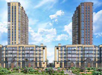 Высота корпусов 5 и 22 этажа